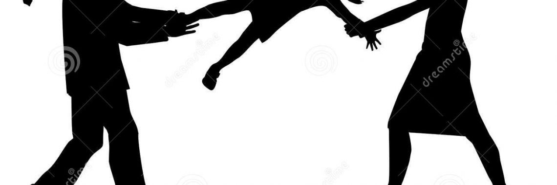 symbolic-illustration-custody-battle-man-woman-silhouette-39876810